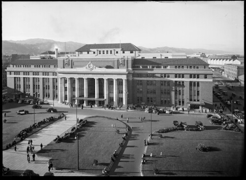 Wellington Railway Station, ca 1937 | by National Library NZ on The Commons