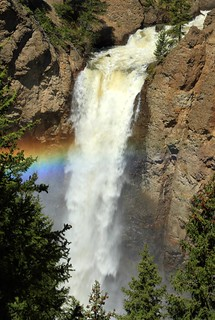 Rainbow at Tower Falls, Yellowstone - bummer but the trail to the base was closed | by Alaskan Dude
