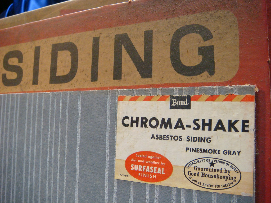 Gold Bond Asbestos Cement Siding Shingle - Grey Sample   Flickr