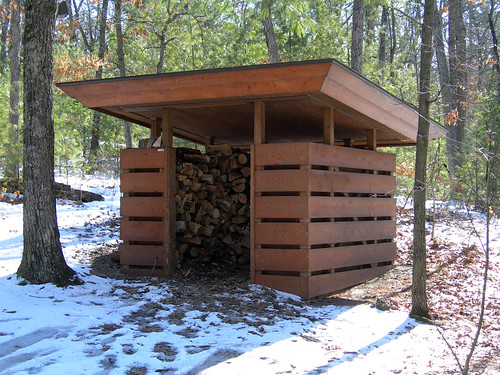 Woodshed At Seth Peterson Cottage By Frank Lloyd Wright 2