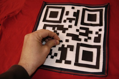 Reconfigurable QR code T-shirt with velcro | by Kitchen Budapest