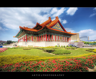 The National Theater and Concert Hall at Chiang Kai-Shek Memorial Hall in Taipei, Taiwan :: HDR | by :: Artie | Photography :: Travel ~ Oct