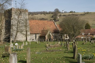 Turville Church with Windmill in the Background | by IanAWood