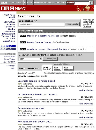 2001 BBC News search results wireframe - Martin Belam - Flickr
