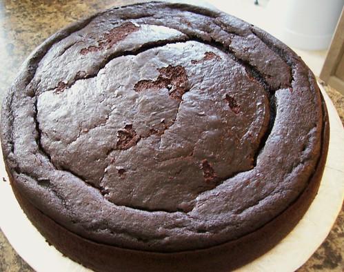 Rich Black Chocolate Cake