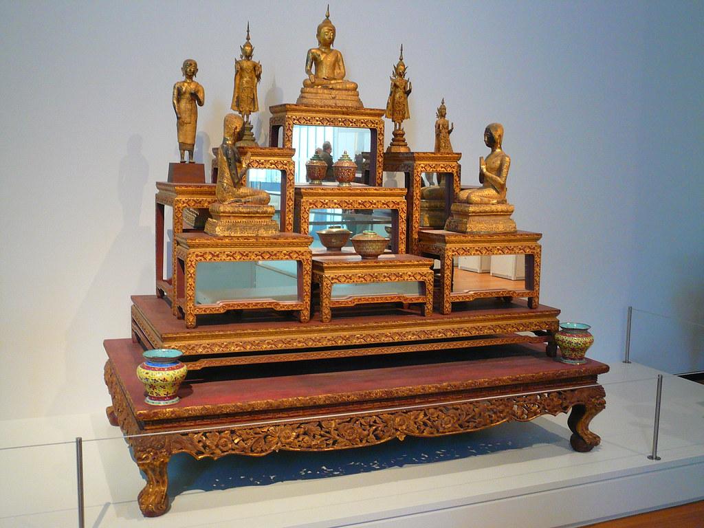 Thai Buddhist altar, UMMA (Univ. of Michigan Art Museum) | Flickr