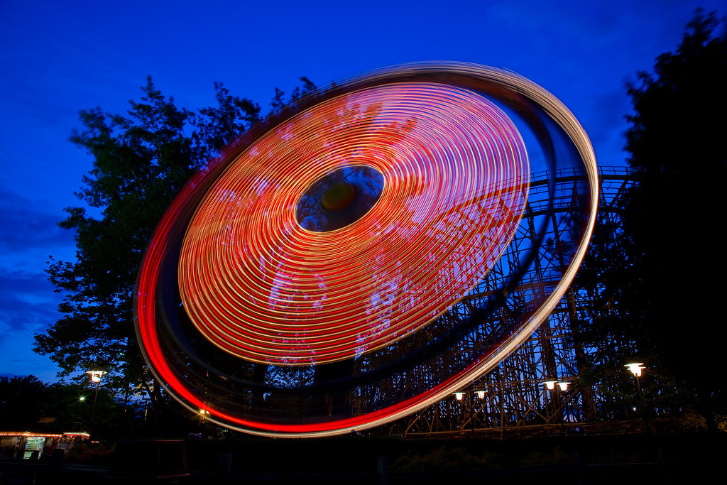 Cedar Point - Witches' Wheel in Action!(Explored)