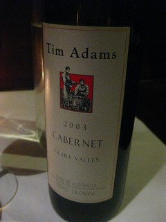 Tim Adams 2003 Cabernet | by phonakins