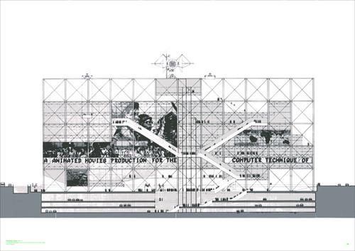 screen-print - pompidou centre - front view