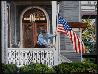 Stars & Stripes - Oil Painting by STEVEN CHATEAUNEUF - Original Version - Photo Also by STEVEN CHATEAUNEUF | by snc145