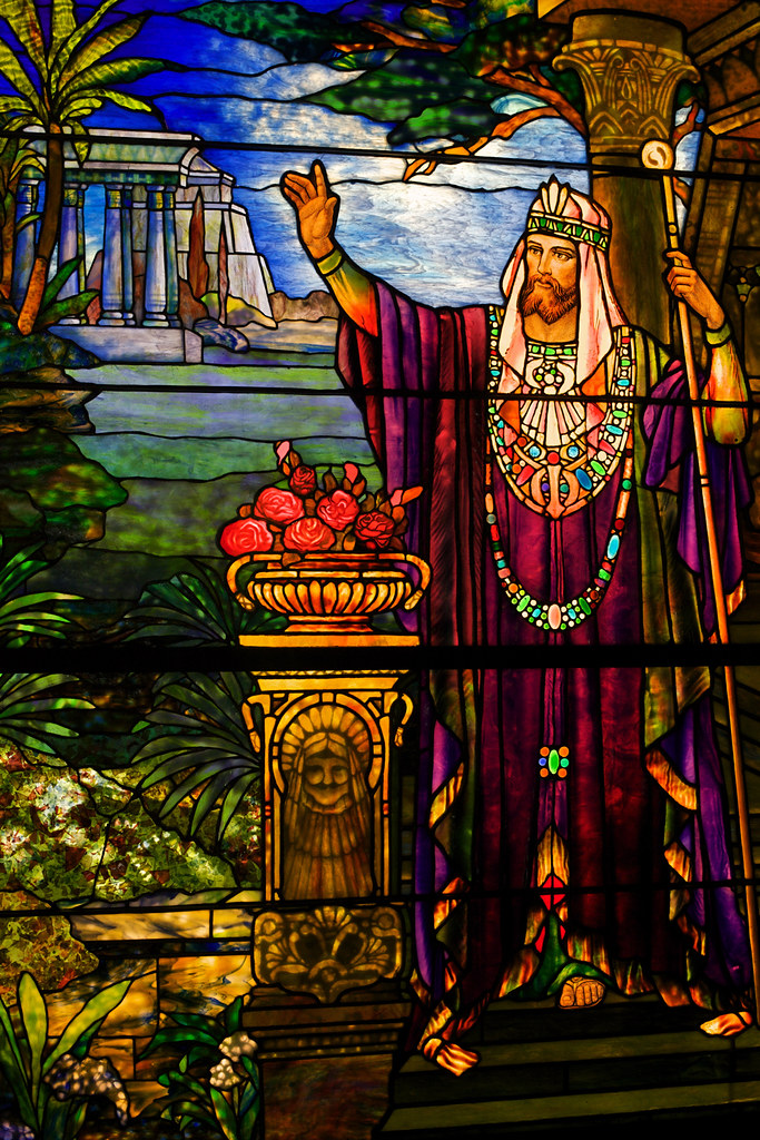 Image result for king solomon stained glass