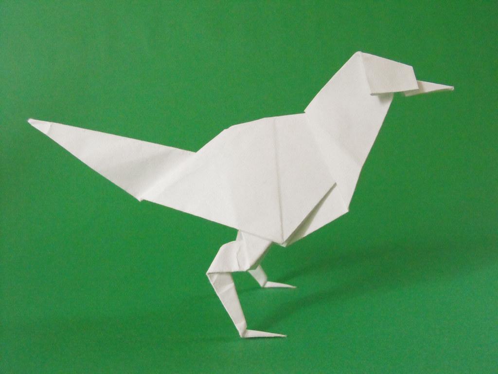 Origami Bird Disenado Por Akira Yoshizawa Alejandro De La Fuente