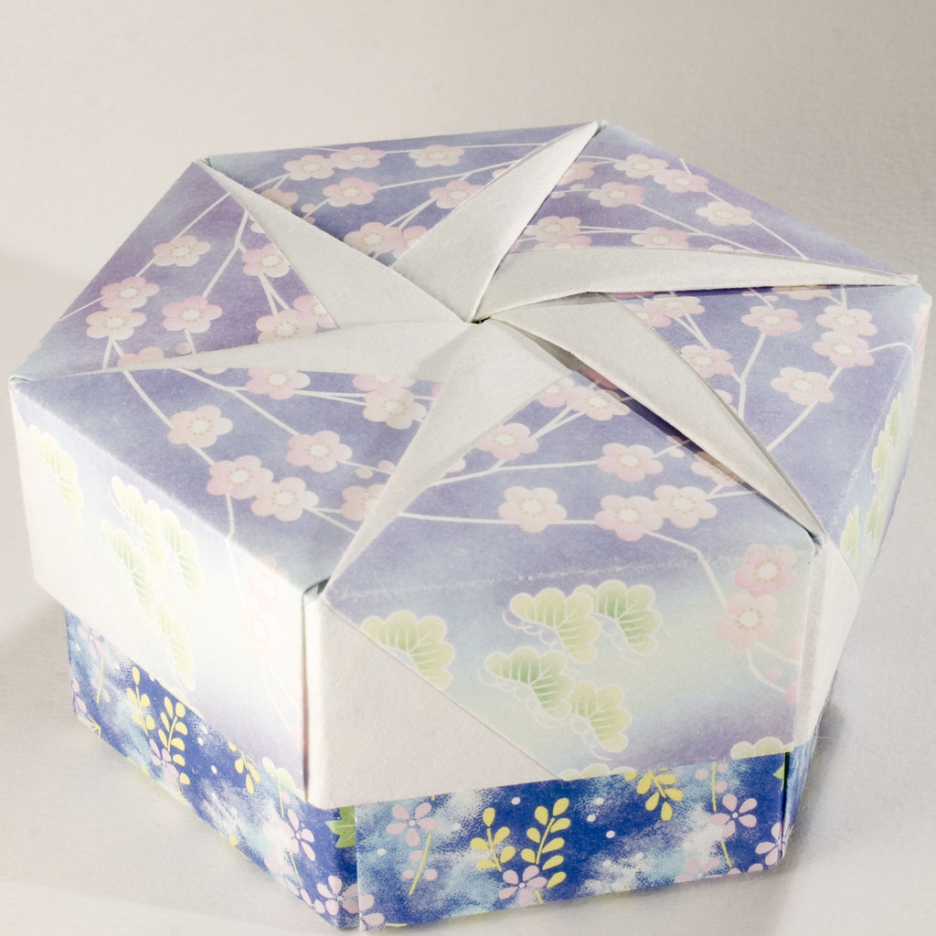 Decorative Hexagonal Origami Gift Box With Lid 15 Flickr