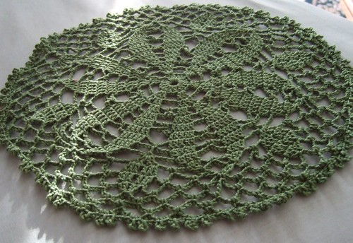 Green Doily Un-ironed. | by Bellsknits