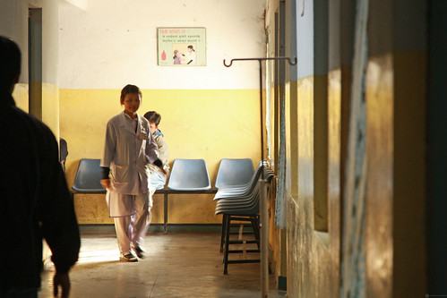 Staff, patients and visitors at Pokhara Regional Hospital | by World Bank Photo Collection