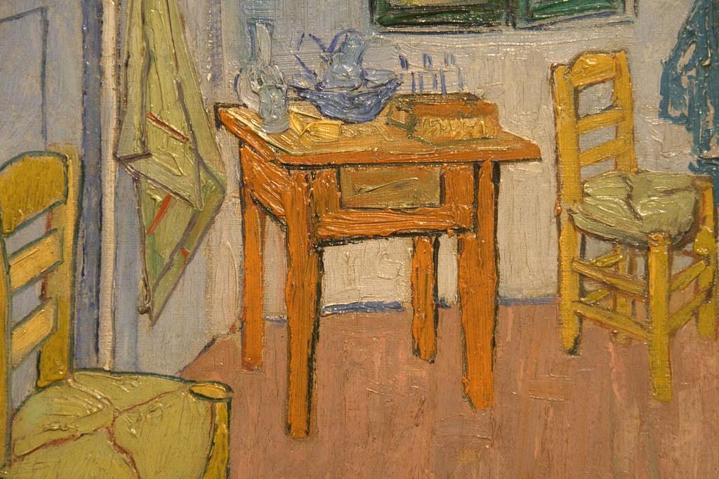 De slaapkamer (detail 2). Vincent van Gogh (1888) | De slaap… | Flickr