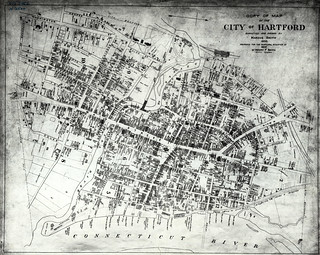 Copy of map of the City of Hartford, surveyed and drawn by Marcus Smith. | by uconnlibrarymagic