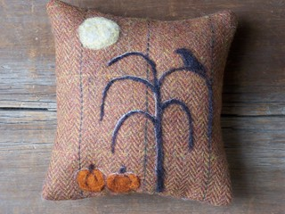 Autumn Needle Felted Pillow | by The Wool Cupboard