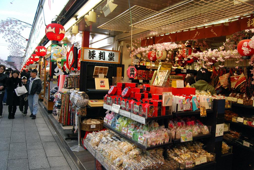 Shops in Nakamise-dori