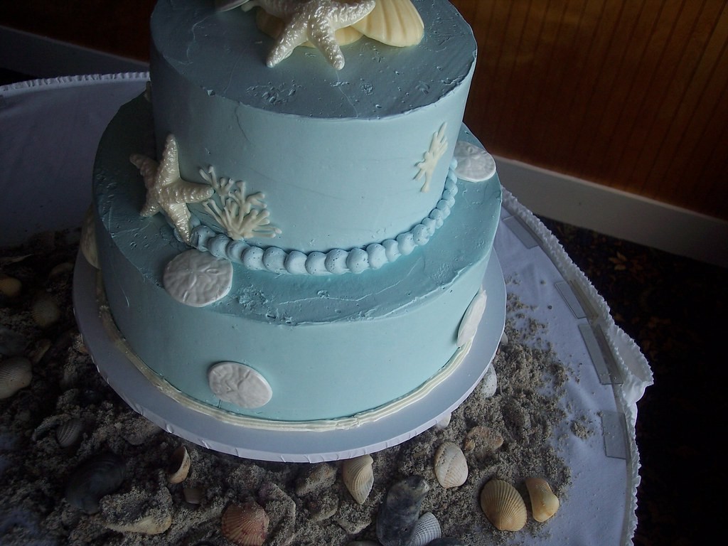... Beach Wedding Cake Wilmington NC; Carolina Cakes U0026 Confections | By  Carolina Cakes U0026 Confections