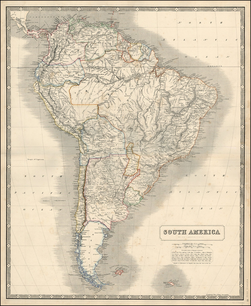 Mapa Antiguo América Del Sur South America Old Map Flickr - Old maps of america