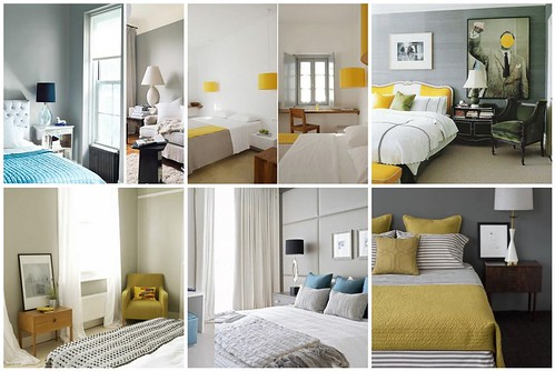 bedroom inspiration gray yellow turquoise 1 grey bed…