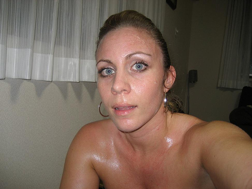 hot naked women sweating
