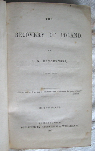 The Recovery of Poland 1847 | by Orchard Lake