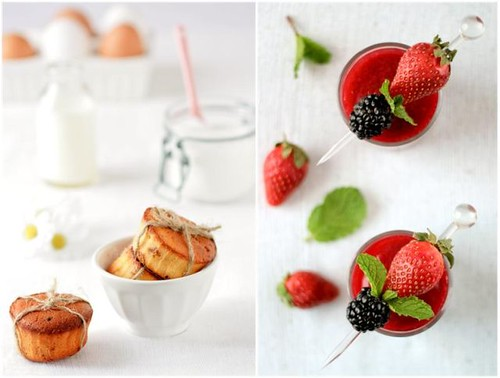Teacakes and Strawberries | by tartelette