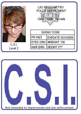 csi badge badge i made for a csi las vegas costume sarah