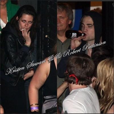 Kristen Stewart And Rob Pattinson Smoking