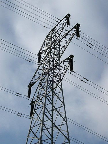 Electricity pylon - close up
