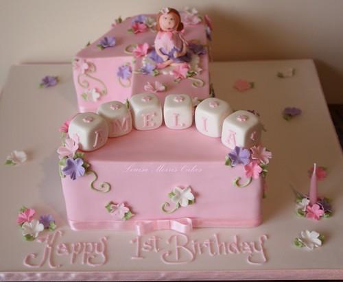 Fondant Cake For Birthday Girl