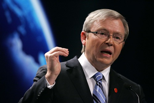 Prime Minister of Australia, Kevin Rudd addresses the world's media | by London Summit