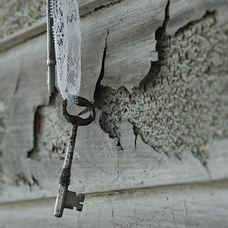 old keys and lace | by lydiafairy