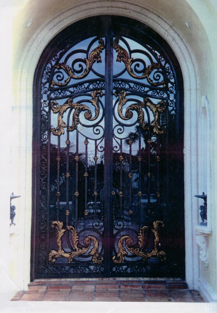 Custom Wrought Iron Entry Door With Bronze Leafs Included Flickr