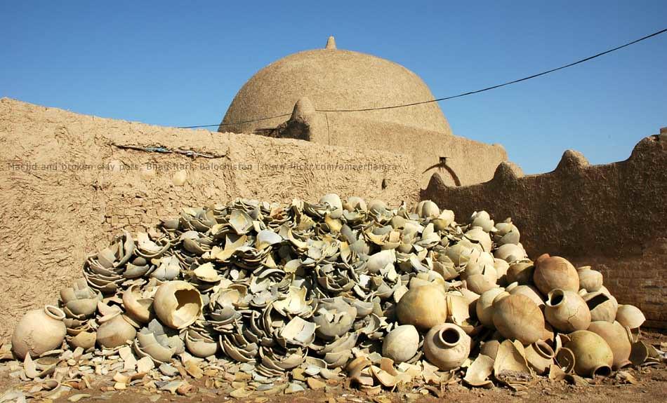discarded clay urns bhag nari balochistan ameer hamza flickr