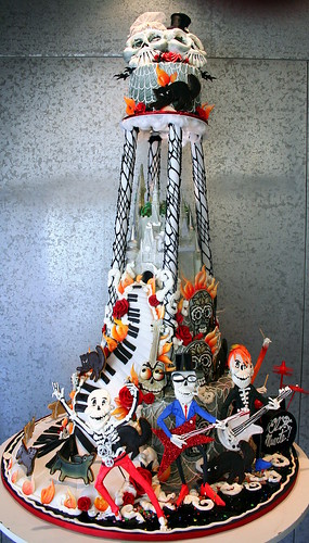 rock wedding cake cutting songs metal rock day of the dead wedding cake for a 19253