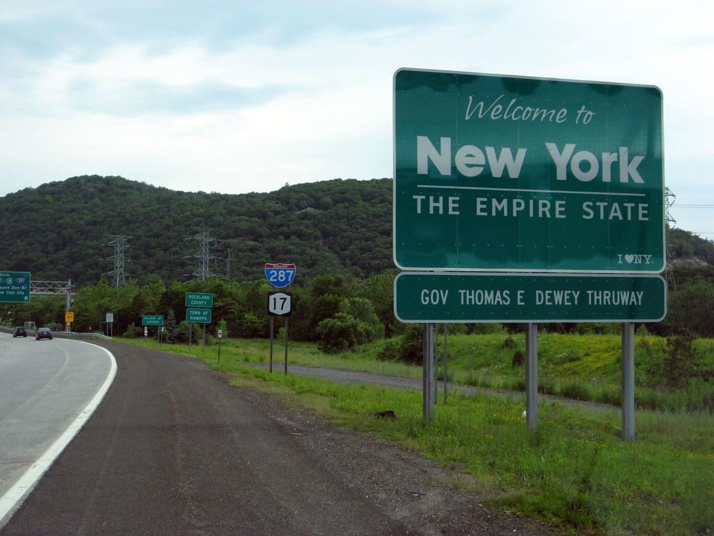 Welcome To New York I 287ny 17nj 17 Northbound New Yor