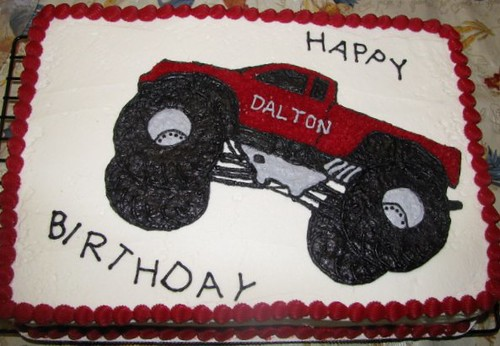 Monster Truck D Cake Pan