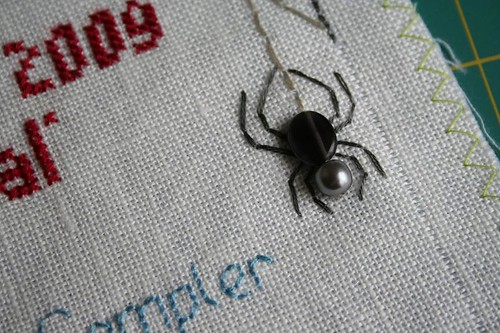 Band sampler detail: spider | by turning*turning