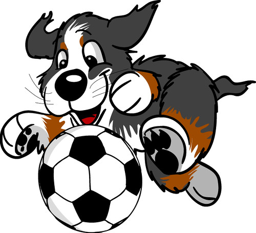 ripley the dog playing soccer by ripleythedog