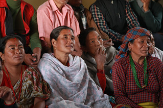 Community discusses the water supply and sanitation project in their villages | by World Bank Photo Collection