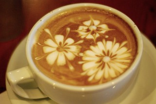 Latte Art - Flowers - Makeda Coffee Seattle, WA | by shawnmebo