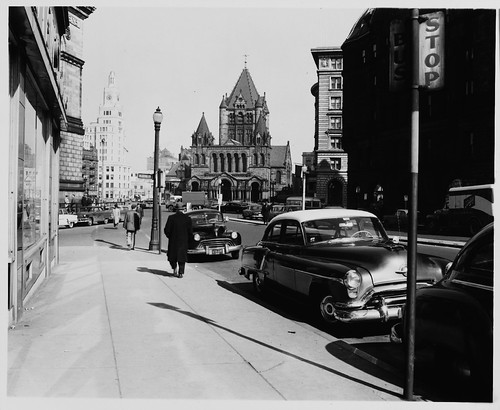 50 ft. Intervals, Approaching Corner of Huntington Avenue and Blagden Street, Facing Trinity Church and Copley Square, Series on a Sunny Day, 1:00 P.M. to 2:30 P.M. | by MIT-Libraries