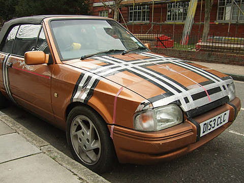 Tower Mk IV Ford Escort With Burberry Pattern Made Of Duct Tape Claredale St