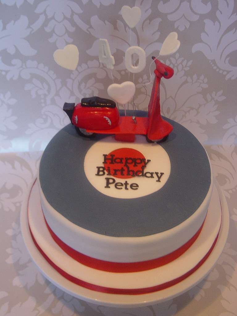 Vespa Scooter Birthday Cake Carlas Cake Emporium Flickr