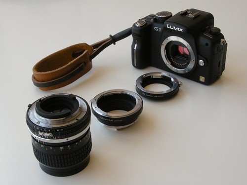 Lumix G1 Adapters with Nikon 85mm Lens | by smaedli