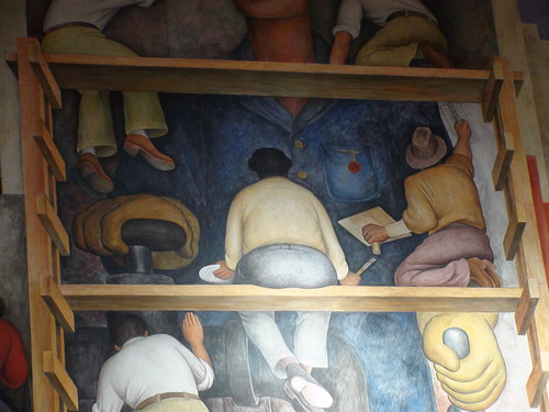 "Diego Rivera's ""Making a fresco"" (1931) a mural at Diego Rivera Gallery. (San Francisco. 2009) 