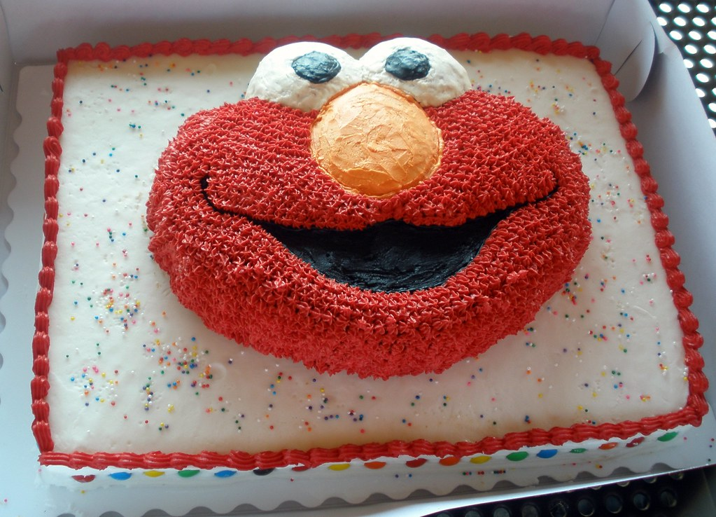 Brodys Elmo Birthday Cake